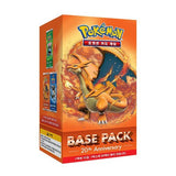 Pokemon 20th Anniversary Booster Box - Featuring Mega Charizard - 20 Booster Packs Korean Version (Red)