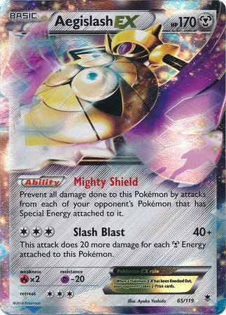 Aegislash EX 65/119 XY Phantom Forces, Holo - The Pokemart - 1
