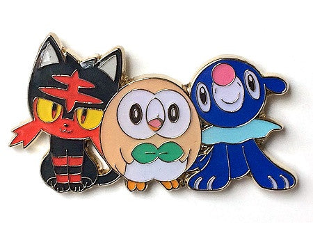 Alola Collection Litten Rowlett Popplio Pokemon Pin, 2016 - The Pokemart