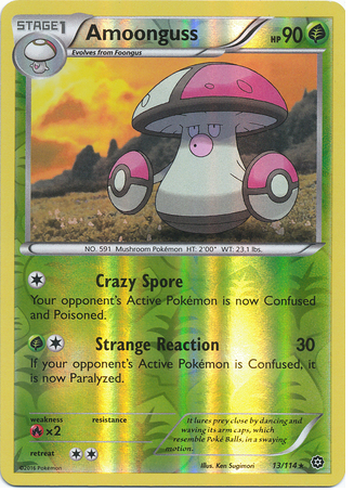 Amoonguss 13/114 XY Steam Siege, Reverse Holo - The Pokemart - 1