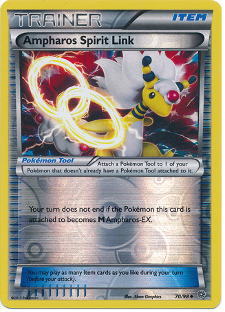 Ampharos Spirit Link 70/98 XY Ancient Origins, Reverse Holo - The Pokemart - 1