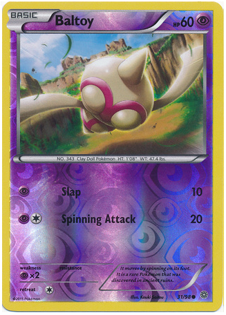 Baltoy 31/98 XY Ancient Origins, Reverse Holo - The Pokemart - 1