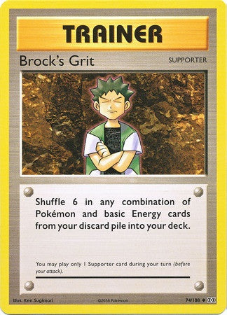 Brock's Grit 74/108 XY Evolutions - The Pokemart - 1
