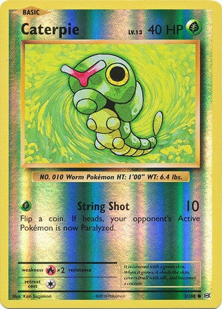 Caterpie 3/108 XY Evolutions, Reverse Holo - The Pokemart - 1