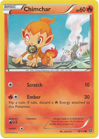 Chimchar 18/114 XY Steam Siege - The Pokemart - 1