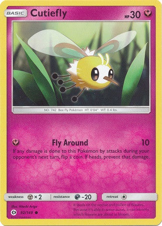 Cutiefly 92/149 Sun & Moon (Base Set) - The Pokemart - 1