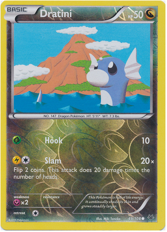 Dratini 49/108 XY Roaring Skies, Reverse Holo - The Pokemart - 1