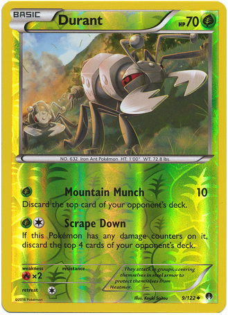 Durant 9/122 XY BREAKpoint, Reverse Holo - The Pokemart - 1