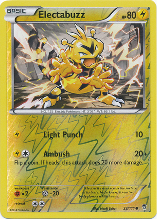 Electabuzz 29/111 XY Furious Fists, Reverse Holo - The Pokemart - 1