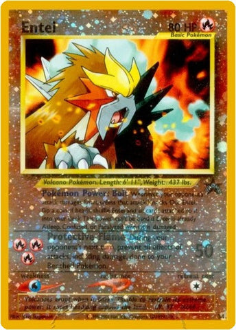 Entei 34 Wizards Black Star Promo Card, Reverse Holo - The Pokemart - 1
