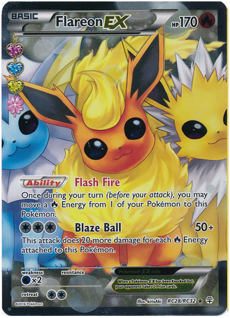 Flareon EX RC28/RC32 Generations Radiant Collection, Full Art Holo - The Pokemart - 1