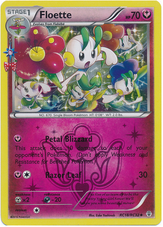 Floette RC18/RC32 Generations Radiant Collection, Holo - The Pokemart - 1