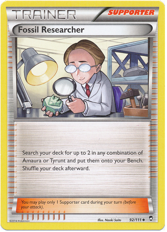Fossil Researcher 92/111 XY Furious Fists - The Pokemart - 1