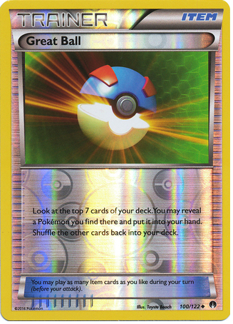 Great Ball 100/122 XY BREAKpoint, Reverse Holo - The Pokemart - 1