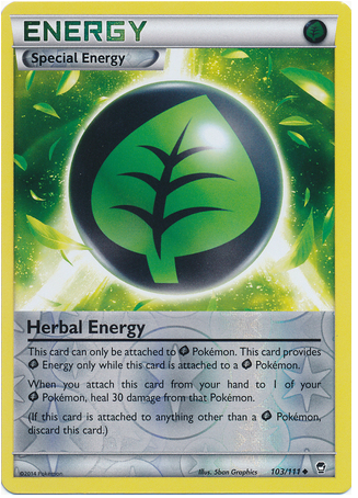 Herbal Energy 103/111 XY Furious Fists, Reverse Holo - The Pokemart - 1
