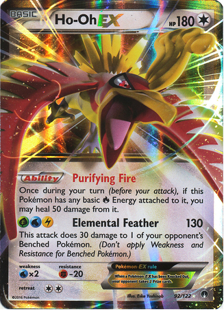 Ho-Oh EX 92/122 XY BREAKpoint, Holo - The Pokemart - 1