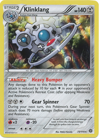 Klinklang 73/114 XY Steam Siege, Holo - The Pokemart - 1