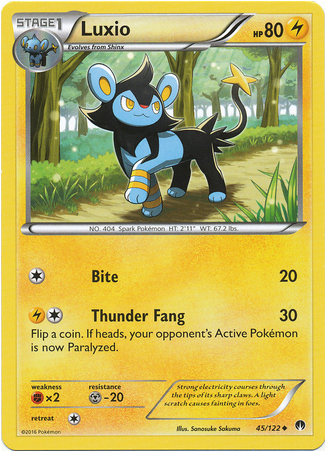 Luxio 45/122 XY BREAKpoint - The Pokemart - 1