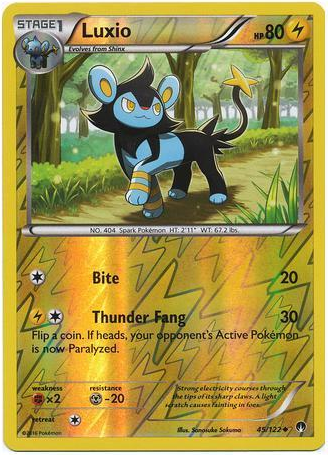 Luxio 45/122 XY BREAKpoint, Reverse Holo - The Pokemart - 1