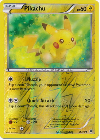Pikachu 26/83 Generations, Reverse Holo - The Pokemart - 1