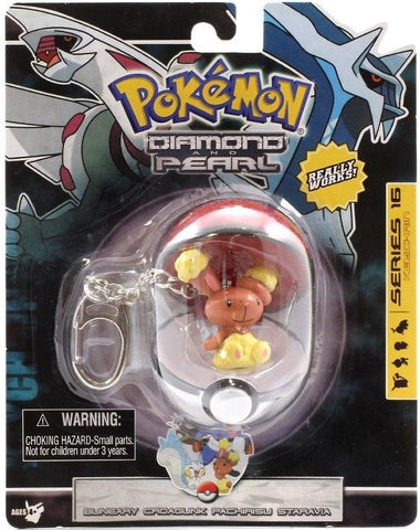 Buneary Figure Keychain In Pokeball © 2007 - The Pokemart