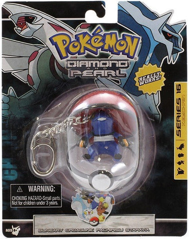 Croagunk Figure Keychain In Pokeball © 2007 - The Pokemart