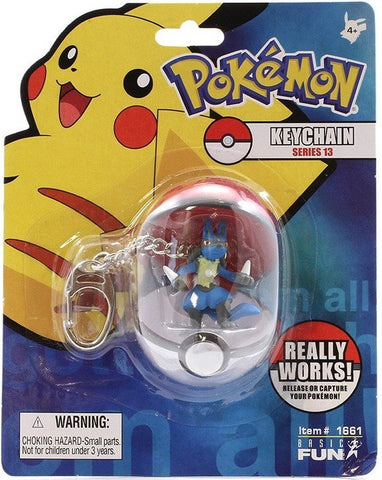Lucario Figure Keychain In Pokeball © 2007 - The Pokemart