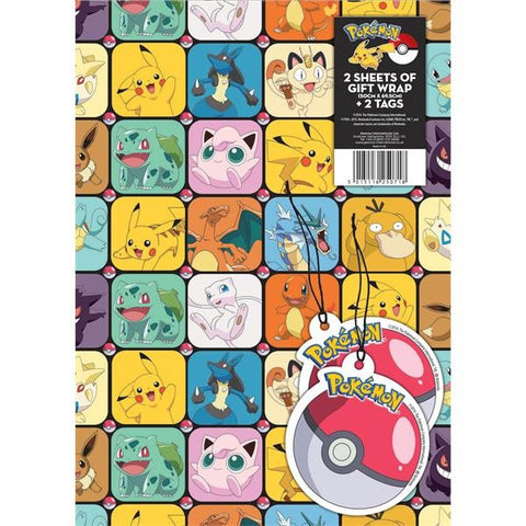 Pokemon Wrapping Paper & Tags - The Pokemart