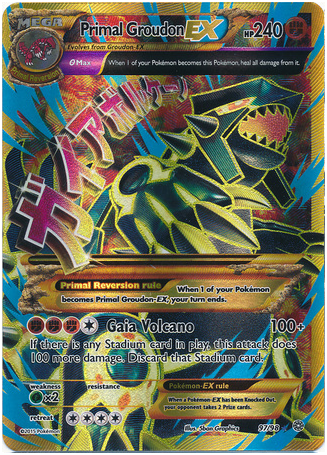 Primal Groudon EX 97/98 XY Ancient Origins, Full Art Holo - The Pokemart - 1