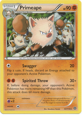 Primeape 53/114 XY Steam Siege - The Pokemart - 1