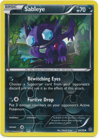 Sableye 44/98 XY Ancient Origins, Reverse Holo - The Pokemart - 1