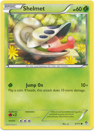 Shelmet 8/111 XY Furious Fists - The Pokemart - 1