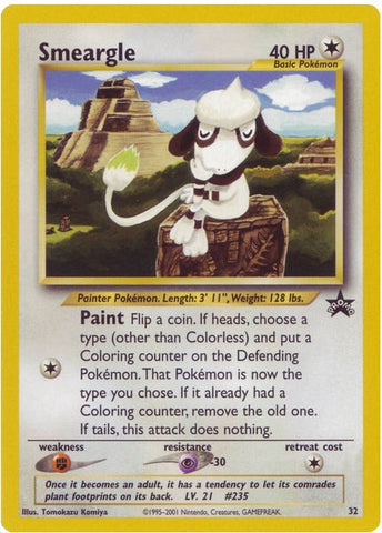 Smeargle 32 Wizards Black Star Promo Card - The Pokemart - 1