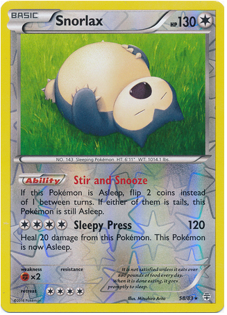Snorlax 58/83 Generations, Reverse Holo - The Pokemart - 1