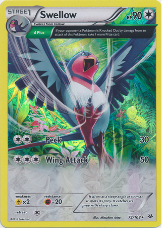 Swellow 72/108 XY Roaring Skies, Holo - The Pokemart - 1