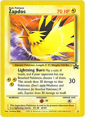 Zapdos 23 Wizards Black Star Promo Card, Factory Sealed - The Pokemart - 2