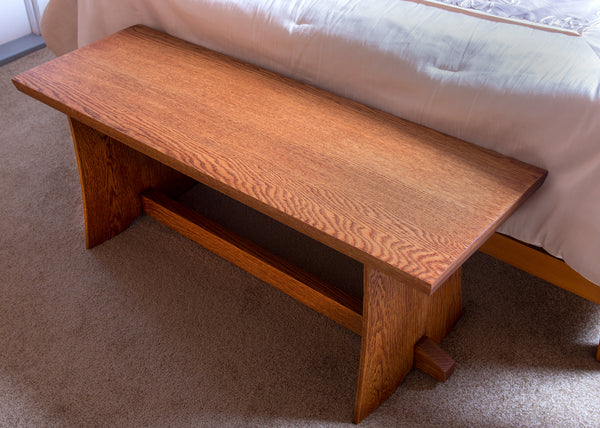 Japanese Inspired White Oak Bench