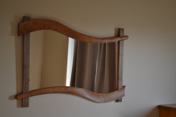 Walnut and Cherry Mirror Frame - Natural Inspirations Woodworking