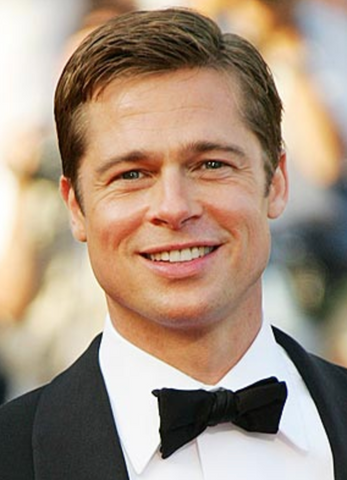 Brad Pitt white teeth smile