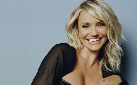 Cameron Diaz White teeth smile
