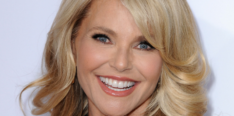 christie brinkley white teeth smile