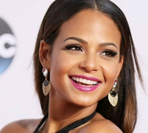 Christina milian white teeth smile