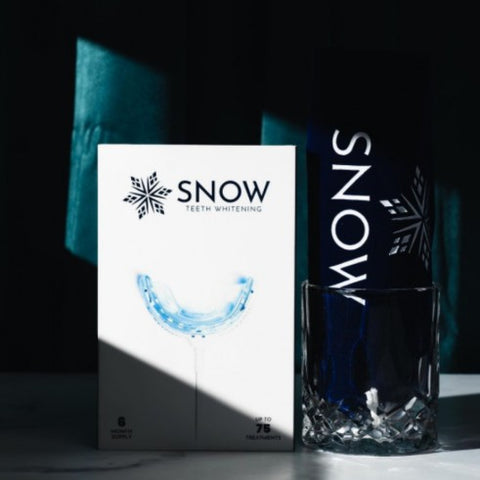 Snow products on table