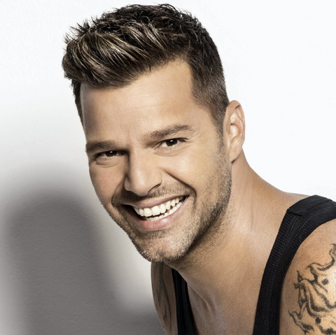 ricky martin white teeth smile