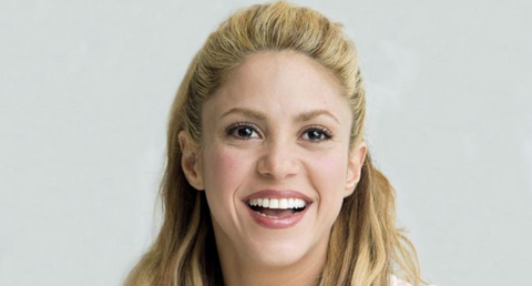 shakira white teeth smile