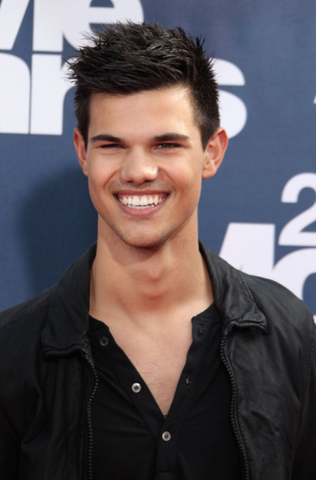 Taylor Lautner white teeth smile