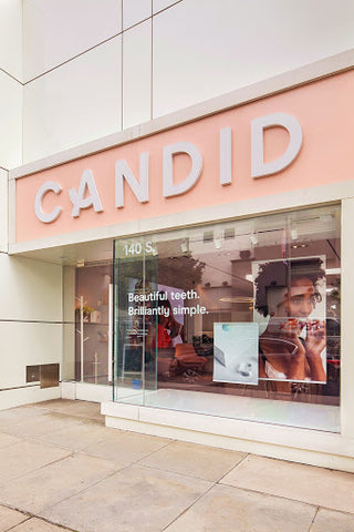 candid storefront