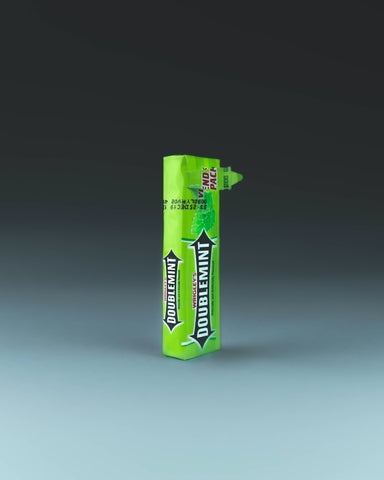 Doublemint gum pack on table