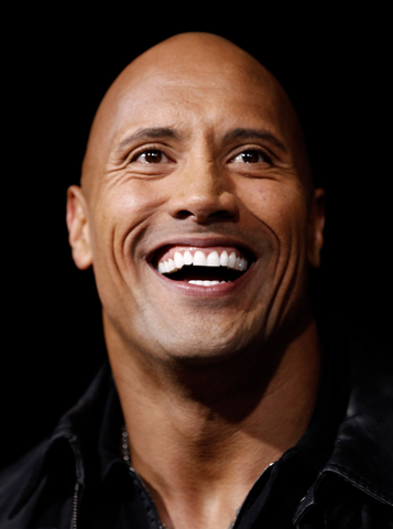 Dwayne the rock johnson white teeth smile