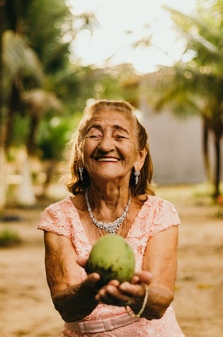 old lady smiling